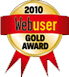 2010 Web user gold award for Mothclouds file backup service
